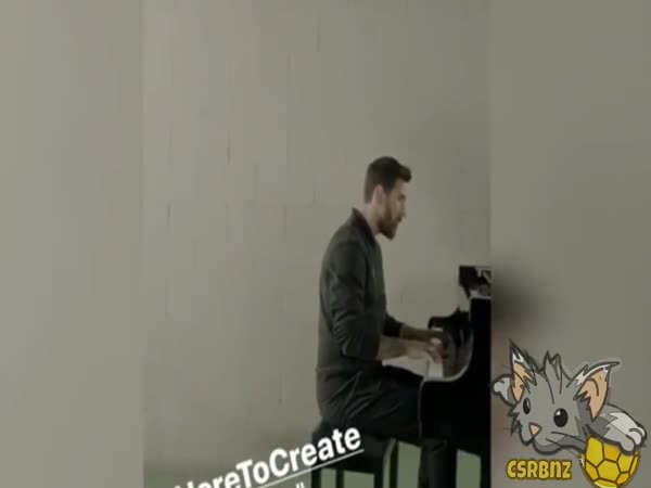Lionel Messi Playing The Champions League Anthem on Piano