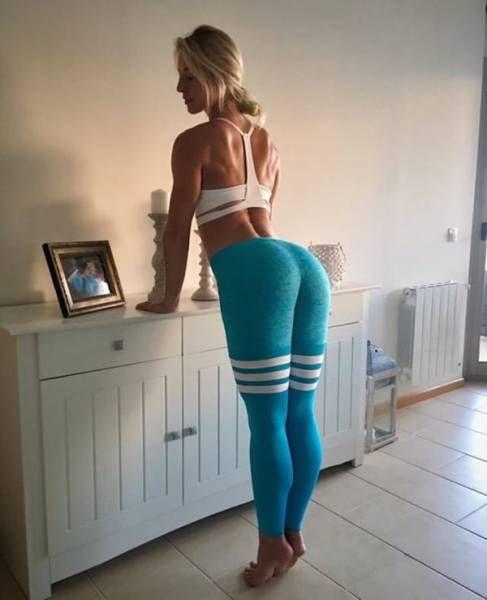 Amazing Women Yoga Leggings Pants Sport Athletic Gym Running Workout Fitness Orange Gray | EBay