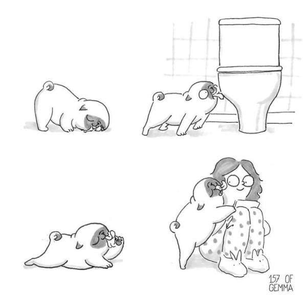 These Comics Show The Real Life With A Dog (40 pics)