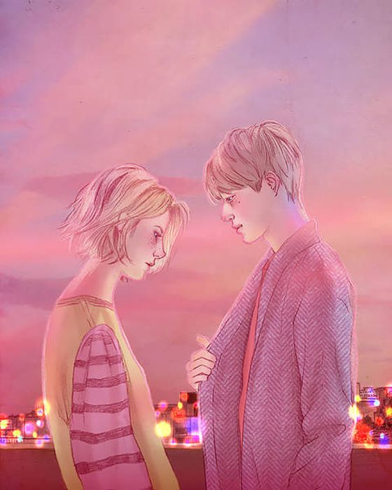 This Korean Illustrator Manages To Capture The Very Essence Of Romance (33 pics)