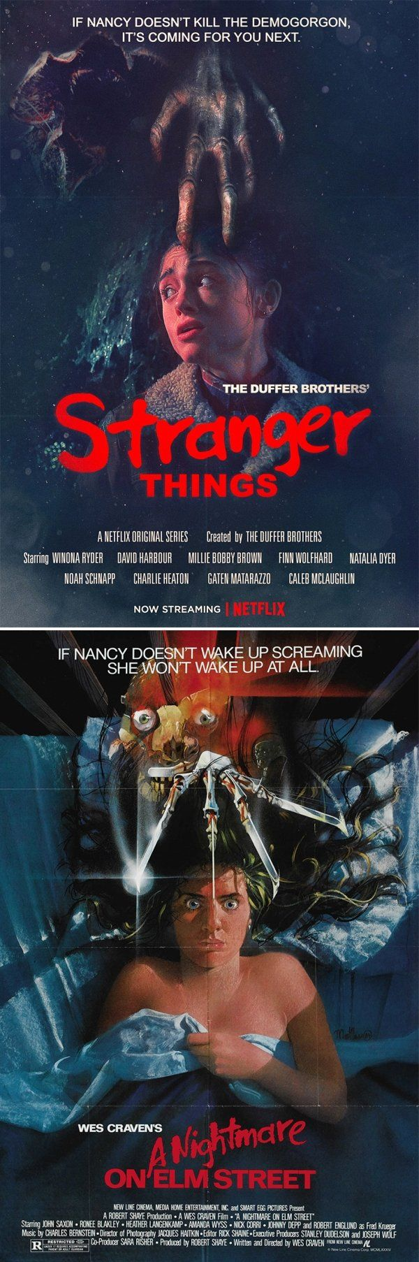 'Stranger Things' Reimagined As Vintage Horror Movie Posters (7 pics)