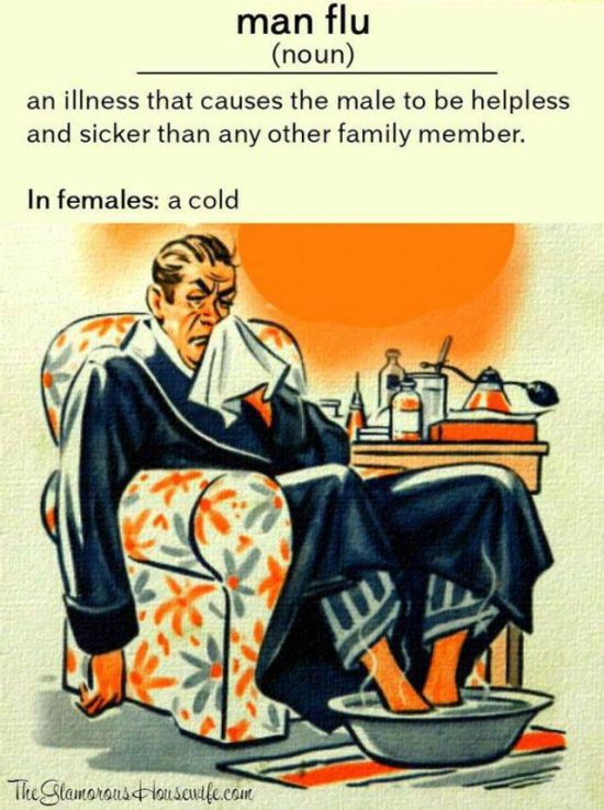 Women Will Never Understand How Lethal Cold Can Be To A Man (32 pics)
