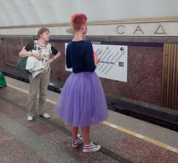 Strange People In The Russian Cities' Subways (31 pics)