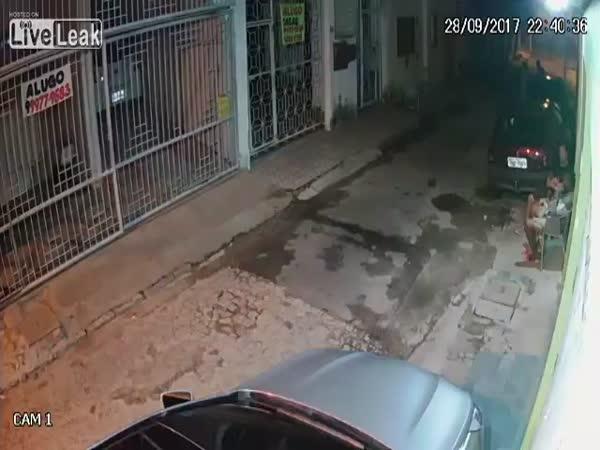 Robber Gets Beaten