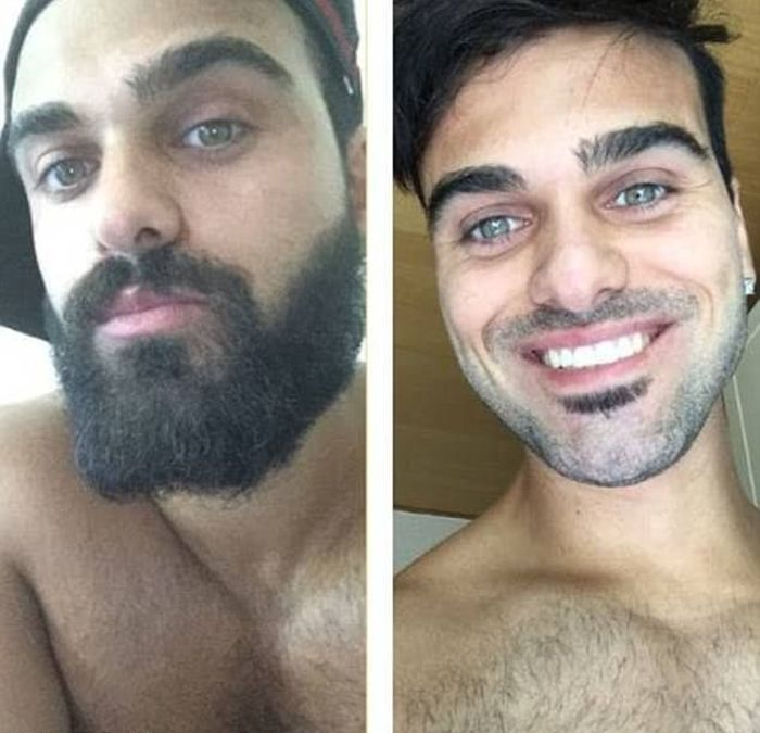 With And Without A Beard (18 pics)