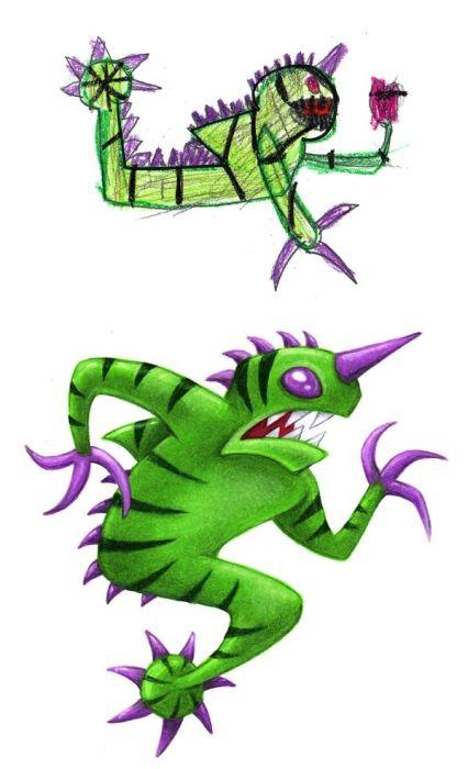 Artist Draws Monsters Based On Kids' Doodles (24 pics)