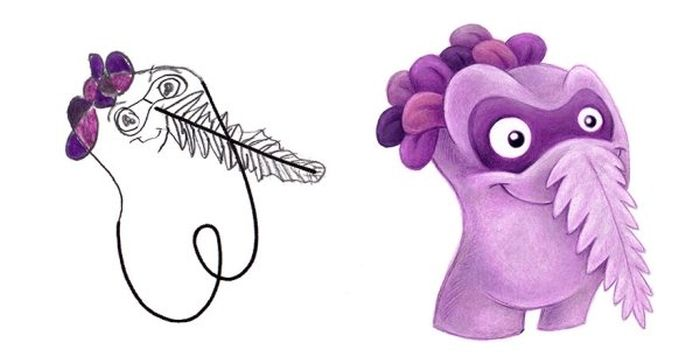 Artist Draws Monsters Based On Kids' Doodles (24 pics)