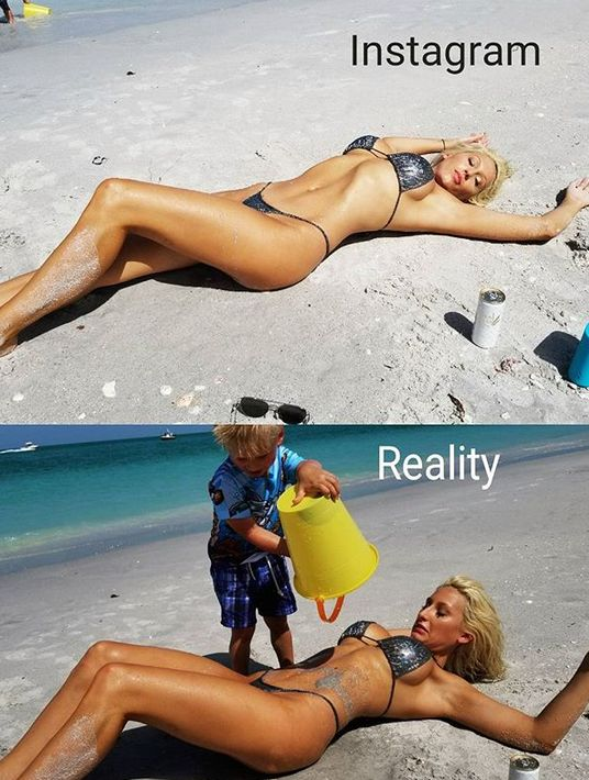 Real Life Vs Social Network Photos (22 pics)
