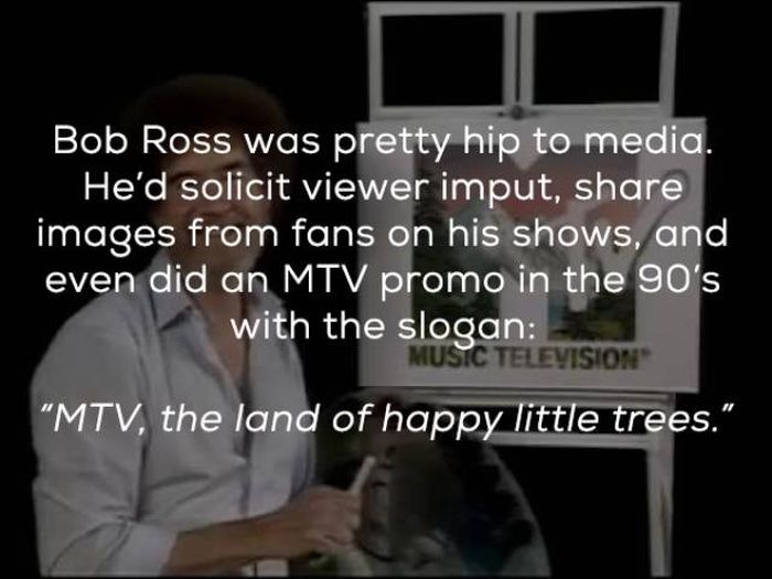 Nothing Happier Than Some Bob Ross Facts (18 pics)