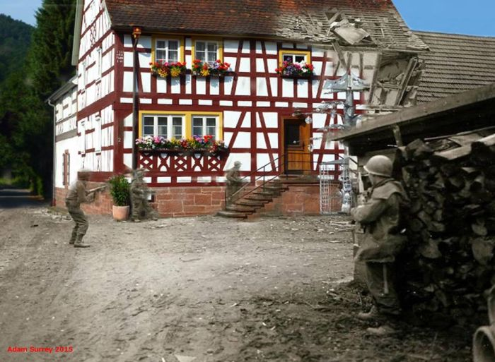 Amazing Then & Now Images of WWII by Adam Surrey (30 pics)
