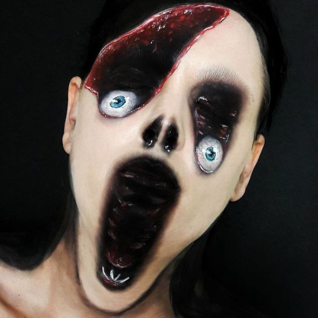 Makeup Artist Turns Herself Into Monsters From Your Most Terrifying Nightmares (20 pics)