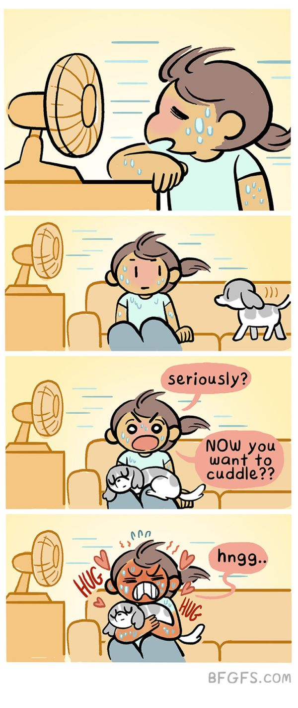 Girlfriend Illustrates Everyday Life With Her Boyfriend And A Puppy In Adorable Comics (20 pics)