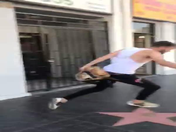 Hampton Brandon Gets Hit By Car On Hollywood Blvd