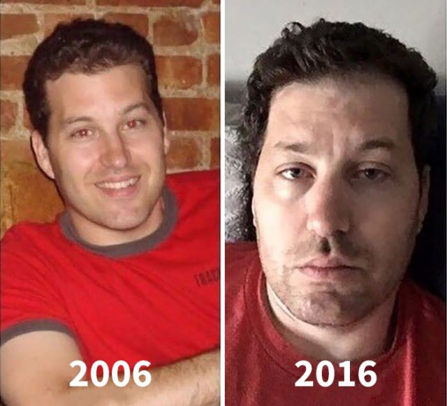 Parents Are Sharing Photos Of Them Before And After Having Kids (15 pics)