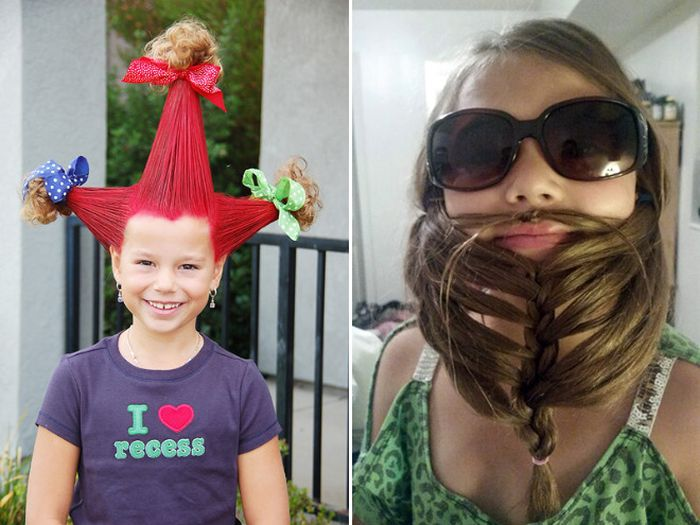 "The Best Hairdos From ""Crazy Hair Day"" at Schools (17 pics)"