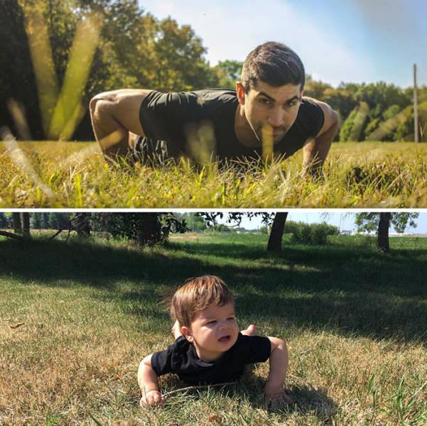 Baby VS A Fashion Model (22 pics)