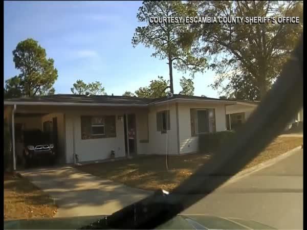 Dash Cam Captures Moment ECSO Deputy Crashes Into Ex-Wife's Home