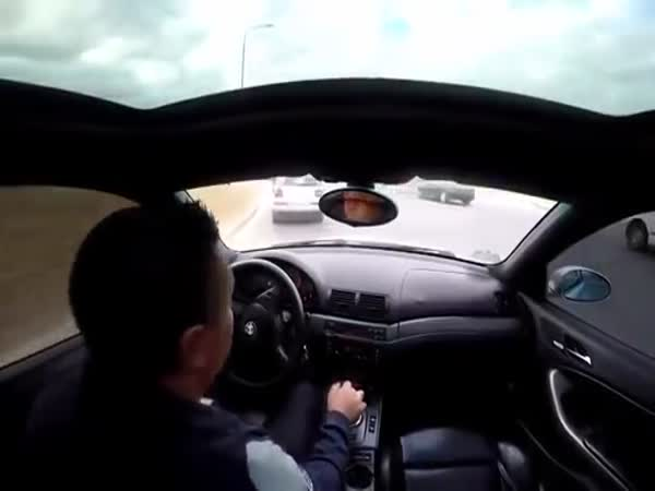 Dude Smashes Up His Beemer Being Reckless