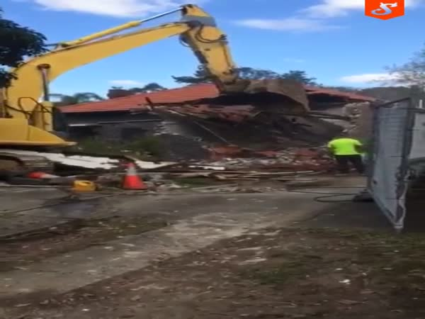 Excavator Bucket Close Call