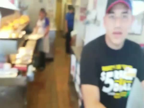 Food Thief Gets A Taste Of Instant Justice