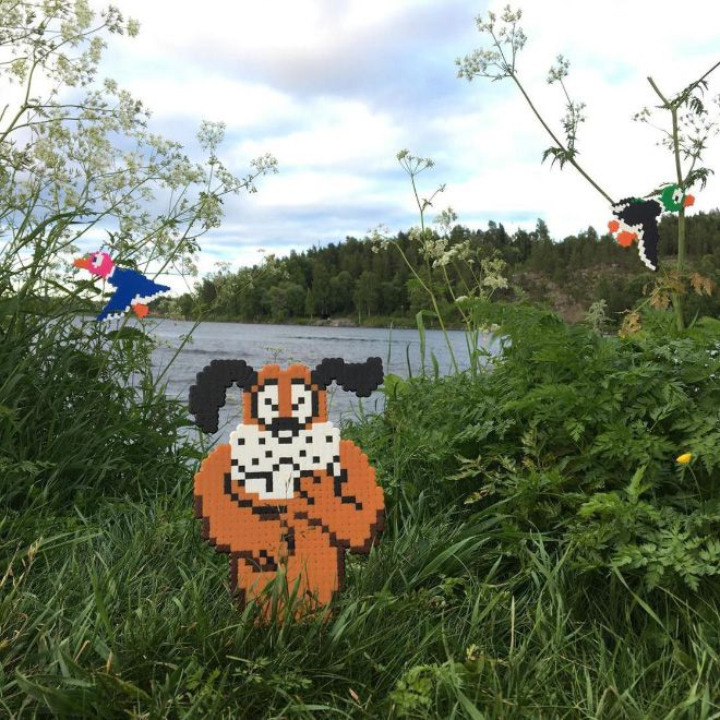 Artist Johan Karlgren Vandalizes Streets With Brilliant Pixel Art (15 pics)