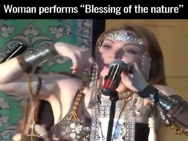 "Woman Performs ""Blessings of The Nature"""