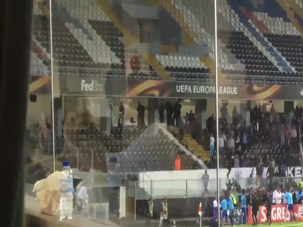Patrice Evra Sent Off For Kung-Fu Kicking A Marseille Fan