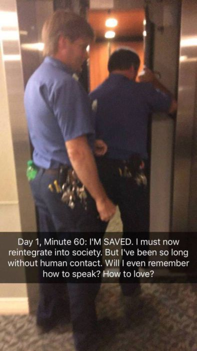 Being Trapped In An Elevator Has Never Been So Intense (12 pics)