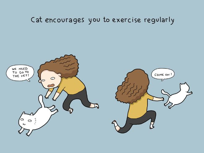 The Daily Struggles of Living With a Cat (18 pics)