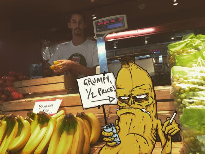 Illustrator Adds Funny Monsters To Everyday Life (17 pics)