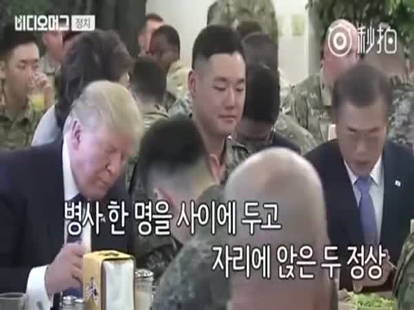 Some Poor Guy Had to Sit Between Trump And South Korea's President
