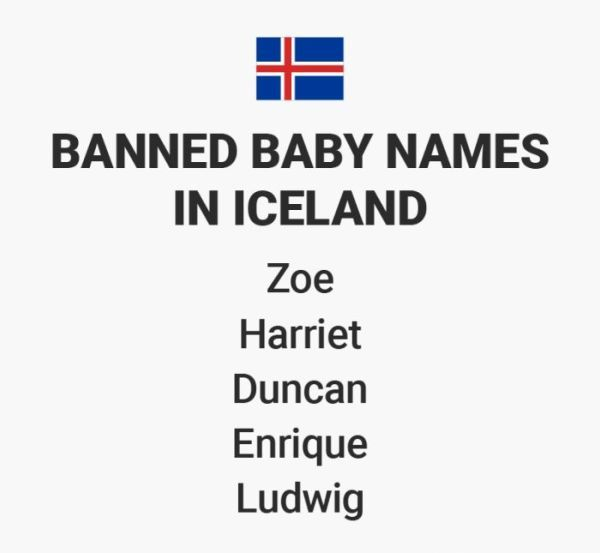 Banned Baby Names From Around The World (12 pics)
