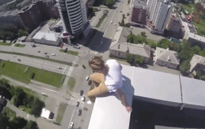 People Who Really Don't Care About Gravity (16 gifs)