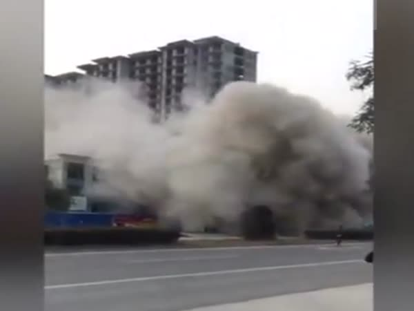 18-Story Building in China Demolished in 7 Seconds