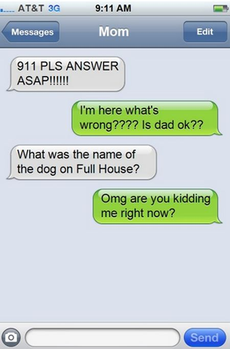 Hilarious Text Responses From Mom (14 pics)