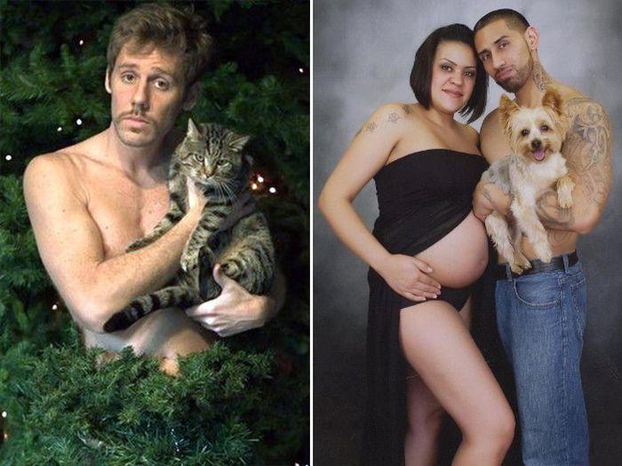 Awkward Glamour Shots With Pets (19 pics)