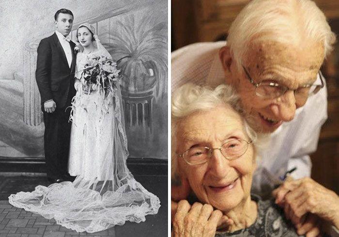 Amazing Then & Now Couple Photos (25 pics)