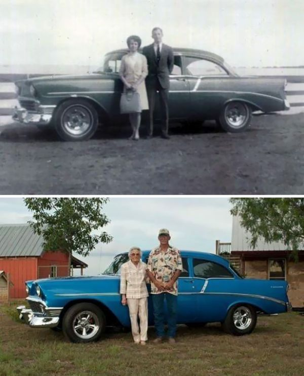 Amazing Then & Now Couple Photos (25 pics)