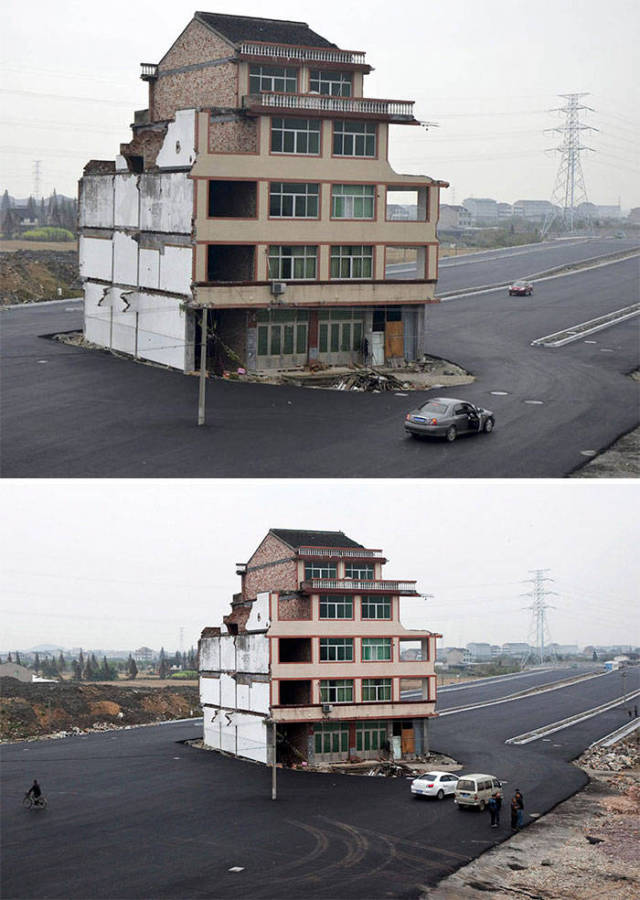 Some Home Owners Never Abandon Their Houses (26 pics)
