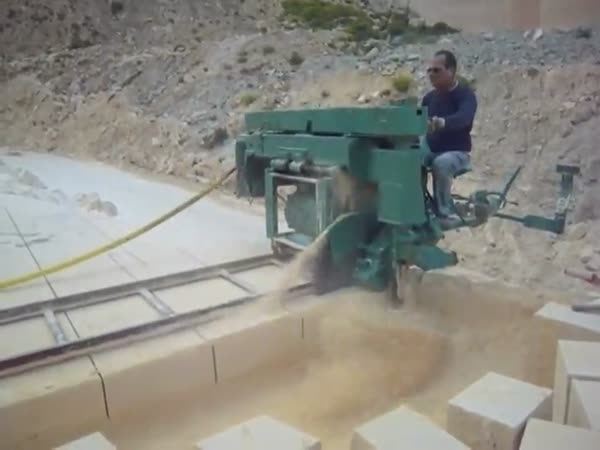 Stone Cutting Machine Is Mesmerizing To Watch
