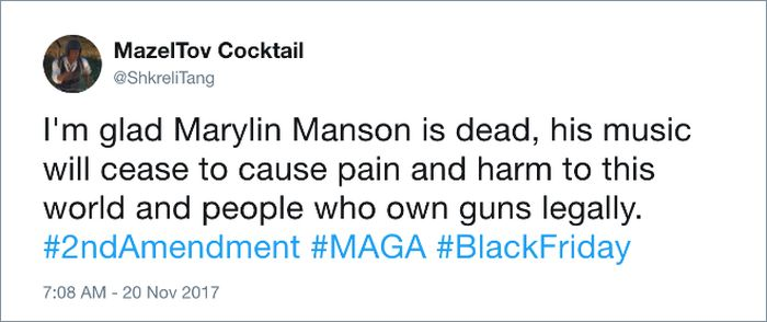 Twitter Users Mourn Marilyn Manson (15 pics)