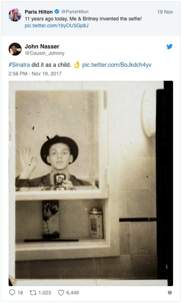 Paris Hilton Says She Invented The Selfie But Internet Proves Her Wrong (21 pics)