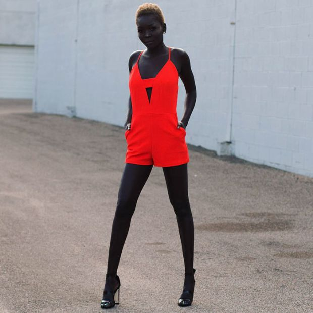 This Girl Has An Incredibly Dark Skin (11 pics)