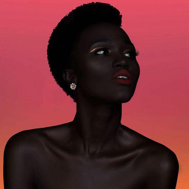 This Girl Has An Incredibly Dark Skin (11 pics)