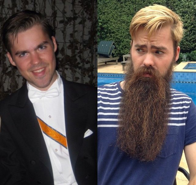 Men With And Without Beards (19 pics)
