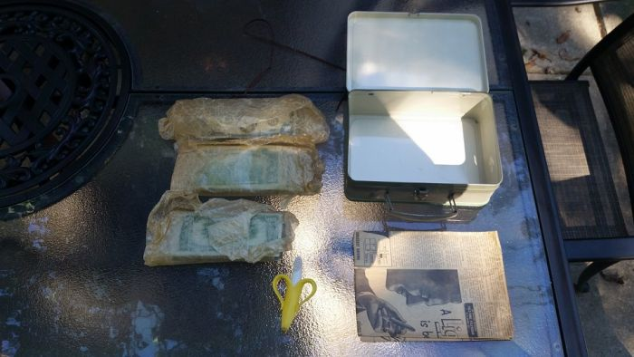 Man Discovers Mystery Box While Remodeling With Amazing Content Inside (12 pics)