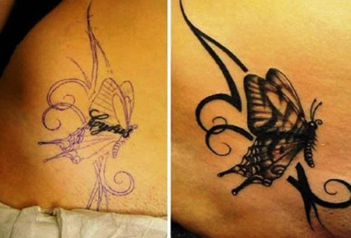 Good Cover Ups For Bad Tattoos (25 pics)