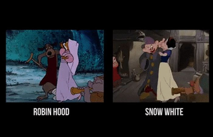 Examples Of Disney's Cartoonists Being Lazy (19 gifs)