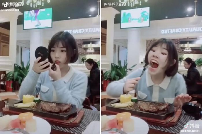 """Women In China Are Sharing This """"Hack"""" For How To Eat With Lipstick On (8 pics)"""