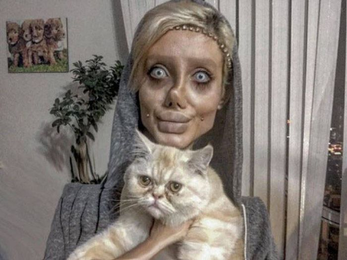 Creepy... When You Are Trying To Look Like Angelina Jolie (12 pics)